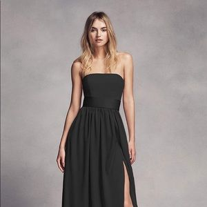 Vera Wang bridesmaid Strapless Belted Dress